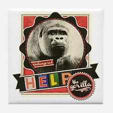 Endangered-Gorilla-1 Tile Coaster