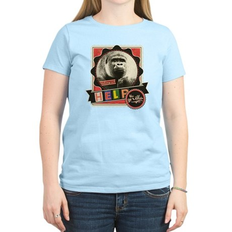 Endangered-Gorilla-1 Women's Light T-Shirt