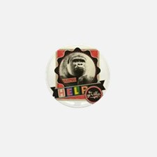 Endangered-Gorilla-1 Mini Button
