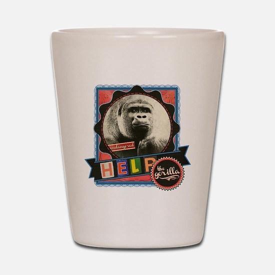 Endangered-Gorilla-2 Shot Glass