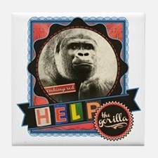 Endangered-Gorilla-2 Tile Coaster