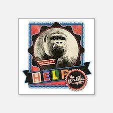"Endangered-Gorilla-2 Square Sticker 3"" x 3"""