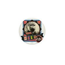 Endangered-Gorilla-2 Mini Button
