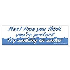 Walking on Water Bumper Stickers