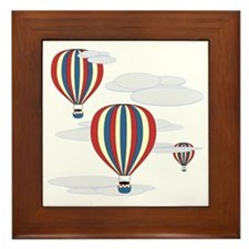 Hot Air Balloon Sq Lt Framed Tile