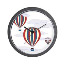 Hot Air Balloon Sq Lt Wall Clock