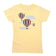 Hot Air Balloon Sq Lt Girl's Tee