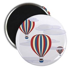 Hot Air Balloon Sq Lt Magnet