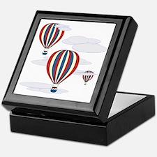 Hot Air Balloon Sq Lt Keepsake Box