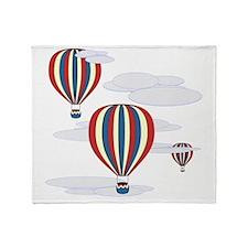 Hot Air Balloon Sq Lt Throw Blanket