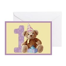 Teddy Bear 1 Blank Cards (6)
