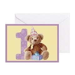 Teddy Bear 1 Blank Cards (6)