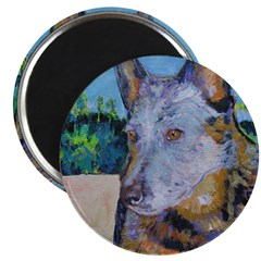 Just Say Moo Cattle Dog Magnet