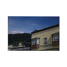 Dawson City. Historical buildings Rectangle Magnet