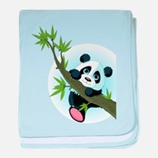 Panda on Tree baby blanket