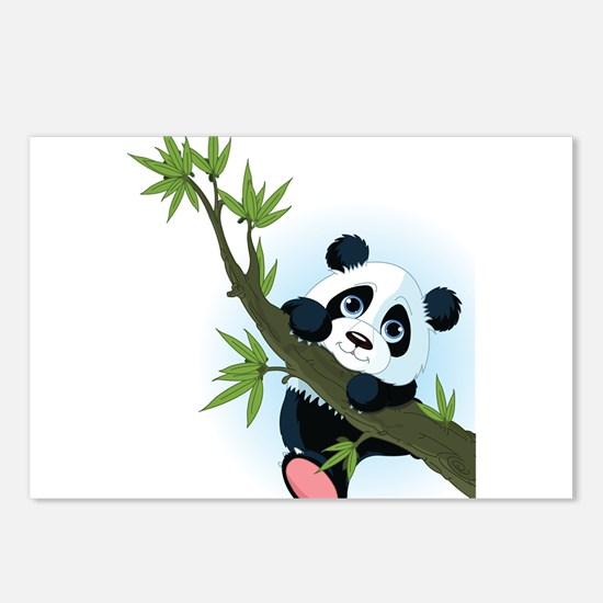 Panda on Tree Postcards (Package of 8)