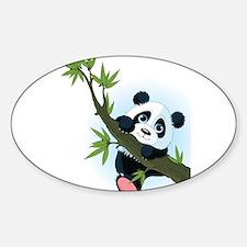 Panda on Tree Decal