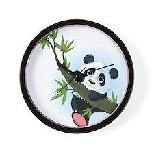 Panda on Tree Wall Clock