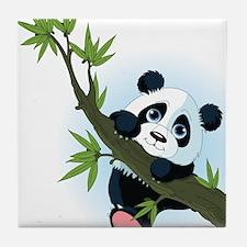 Panda on Tree Tile Coaster