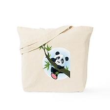 Panda on Tree Tote Bag
