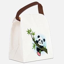 Panda on Tree Canvas Lunch Bag