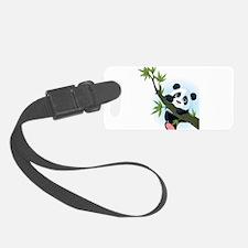 Panda on Tree Luggage Tag