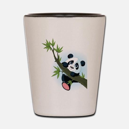 Panda on Tree Shot Glass
