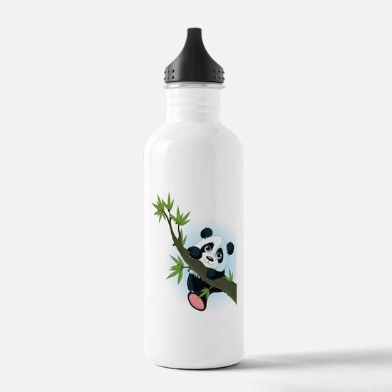 Panda on Tree Water Bottle