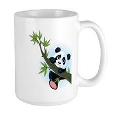 Panda on Tree Mugs