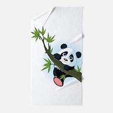 Panda on Tree Beach Towel