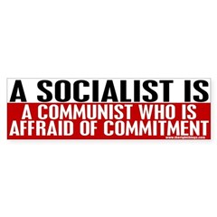 A Socialist Is... Bumper Sticker