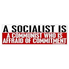 A Socialist Is... Bumper Bumper Sticker