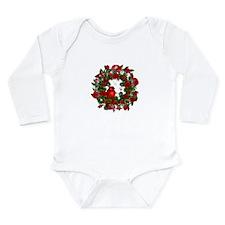 SPARKLING CARDINAL Long Sleeve Infant Bodysuit