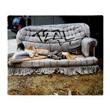 Graffiti couch Fleece Blankets