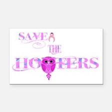 Save the Hooters Owl Rectangle Car Magnet