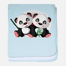 Two Pandas baby blanket