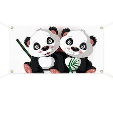 Two Pandas Banner