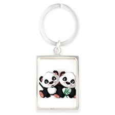 Two Pandas Keychains