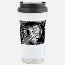 Black and White Rose and Chainl Travel Mug