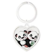 Two Pandas Keychains