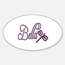 Bella Dragonfly 3 Oval Decal