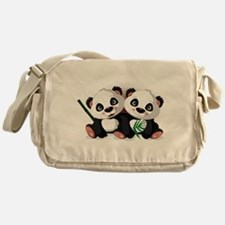 Two Pandas Messenger Bag