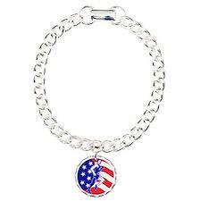 American Marathon runner Charm Bracelet, One Charm