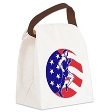 American Marathon runner stars st Canvas Lunch Bag
