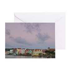 Waterfront Buildings / Duskmstad: Pu Greeting Card