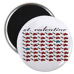 """VALENTINE SAINT by bluedecker 2.25"""" Magnet (10 pac"""