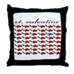 VALENTINE SAINT by bluedecker Throw Pillow