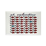 VALENTINE SAINT by bluedecker Rectangle Magnet