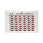 VALENTINE SAINT by bluedecker Rectangle Magnet (10