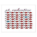 VALENTINE SAINT by bluedecker Small Poster